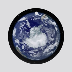 Antarctica, satellite image Round Ornament