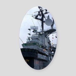 Bridge of USS Intrepid aircraft ca Oval Car Magnet