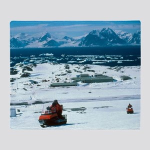 Antarctic Research Station Throw Blanket