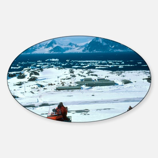Antarctic Research Station Sticker (Oval)