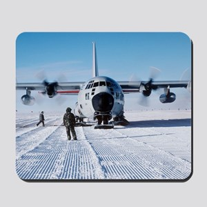 Antarctic airfield Mousepad
