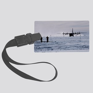 Antarctic airfield Large Luggage Tag