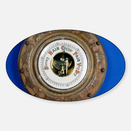Aneroid barometer Sticker (Oval)