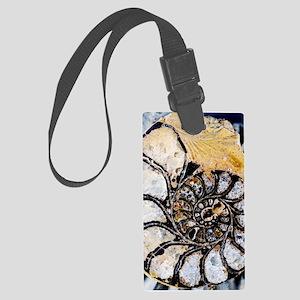 Ammonite fossil Large Luggage Tag
