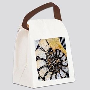 Ammonite fossil Canvas Lunch Bag