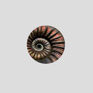 Ammonite fossil Mini Button