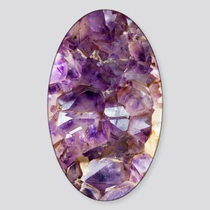 Amethyst crystals Sticker (Oval)