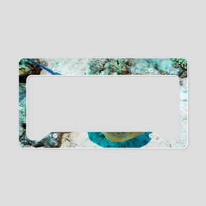 Bluespotted ribbontail ray License Plate Holder