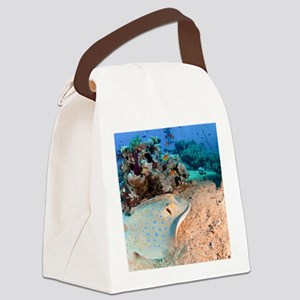 Blue-spotted stingray Canvas Lunch Bag
