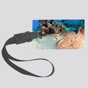 Blue-spotted stingray Large Luggage Tag