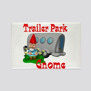 Trailer Park Gnome Rectangle Magnet