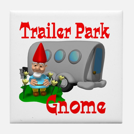 Trailer Park Gnome Tile Coaster