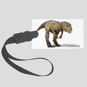 Allosaurus dinosaur, artwork Large Luggage Tag