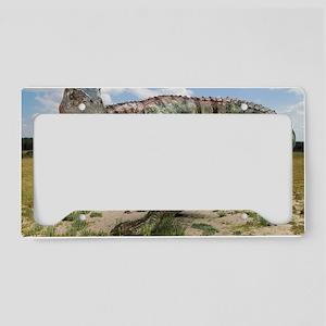 Allosaurus dinosaur, artwork License Plate Holder
