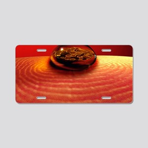 Blood droplet and viruses Aluminum License Plate