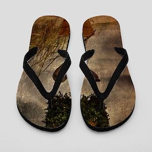 The Oracle of Pythos-Grunge Flip Flops
