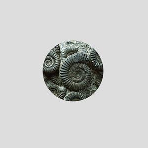 Ammonite fossils Mini Button