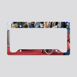 Airline passengers in wheelch License Plate Holder