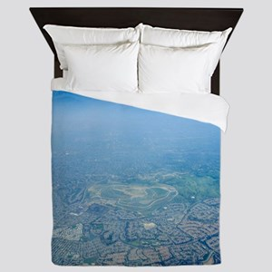 Air pollution over Los Angeles Queen Duvet