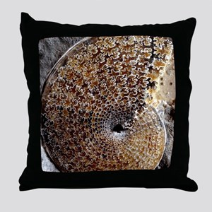 Ammonite fossil Throw Pillow