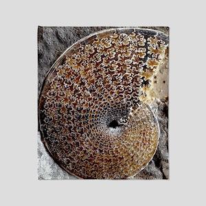 Ammonite fossil Throw Blanket