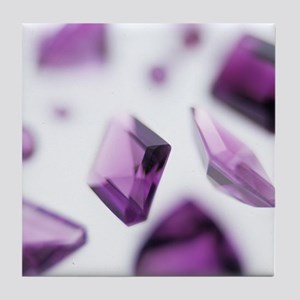 Amethyst gemstones Tile Coaster