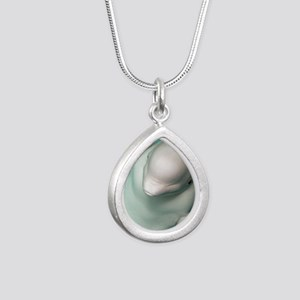 Beluga whale, Delphinapt Silver Teardrop Necklace