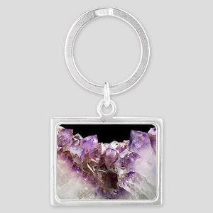 Amethyst crystals Landscape Keychain