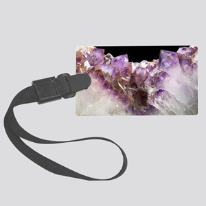 Amethyst crystals Large Luggage Tag