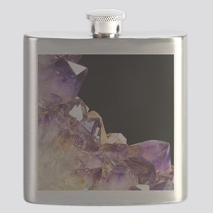Amethyst crystals Flask