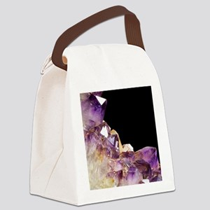 Amethyst crystals Canvas Lunch Bag