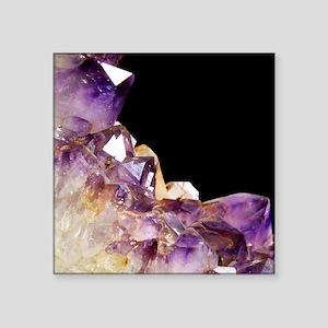 "Amethyst crystals Square Sticker 3"" x 3"""