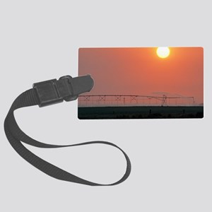 Agricultural irrigation Large Luggage Tag