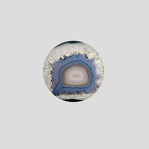 Agate, artificially coloured Mini Button