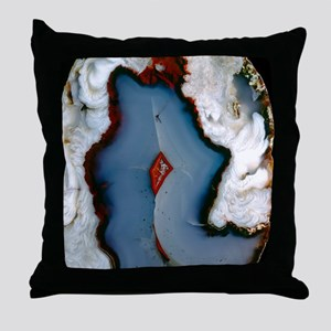 Agate surface Throw Pillow