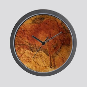 Altamira cave painting of a bison Wall Clock