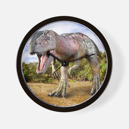 Allosaurus dinosaur, artwork Wall Clock