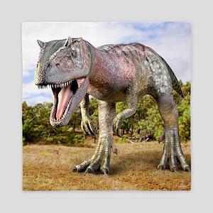 Allosaurus dinosaur, artwork Queen Duvet
