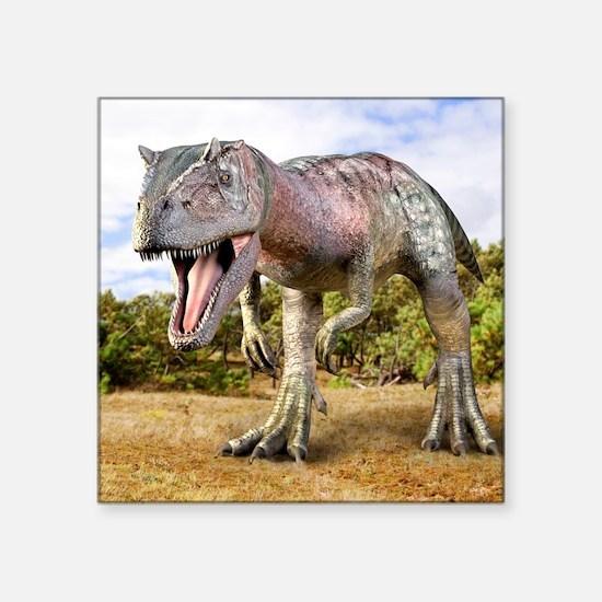 "Allosaurus dinosaur, artwor Square Sticker 3"" x 3"""