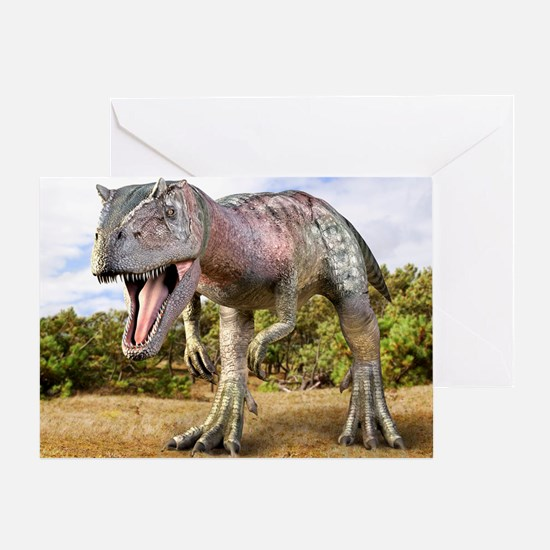 Allosaurus dinosaur, artwork Greeting Card