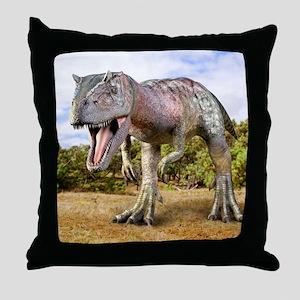 Allosaurus dinosaur, artwork Throw Pillow