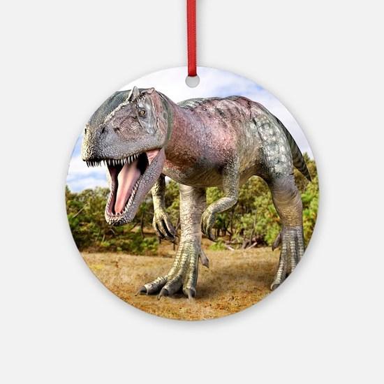 Allosaurus dinosaur, artwork Round Ornament