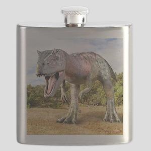 Allosaurus dinosaur, artwork Flask