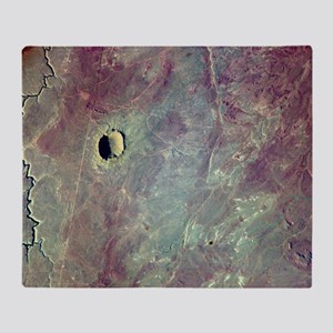 Barringer Crater, Arizona Throw Blanket
