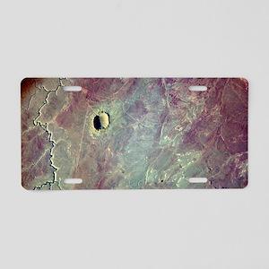 Barringer Crater, Arizona Aluminum License Plate