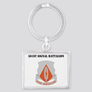 DUI - 501st Signal Battalion wi Landscape Keychain