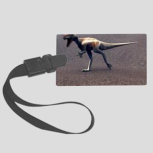 Allosaurus dinosaur Large Luggage Tag