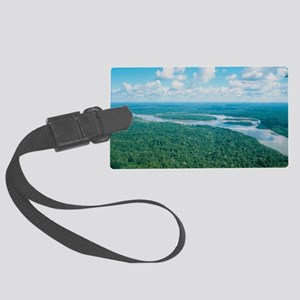 Aerial view of Rio Napo, eastern Large Luggage Tag