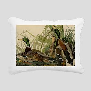 Mallard duck Audubon Bir Rectangular Canvas Pillow