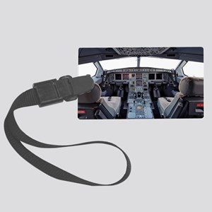 Airbus A330 cockpit Large Luggage Tag